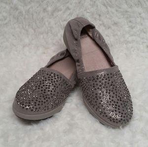 White Mountain Women's Metallic & Crystal Loafers